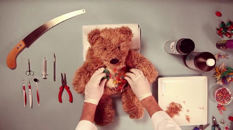 【テディベア】ぬいぐるみの開腹手術!腎臓・肝臓・心臓を治療しよう