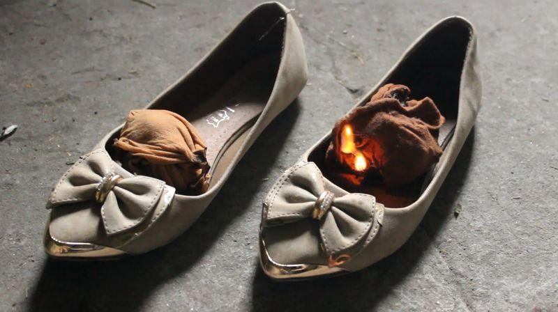 【焼却】ストッキングが靴の中で燃える!炎上するハイヒールも美しい