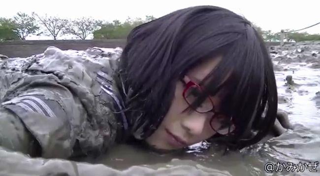 【セーラー服】北見えりの泥んこ遊び!制服姿の眼鏡美人が汚れていく